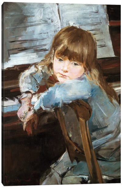 Girl before the Piano, late c19th  Canvas Art Print