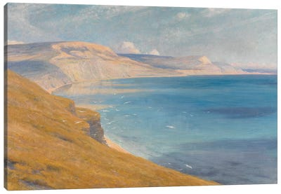 Sea and Sunshine, Lyme Regis, 1919  Canvas Art Print