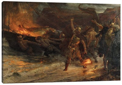 The Funeral of a Viking, 1893  Canvas Art Print