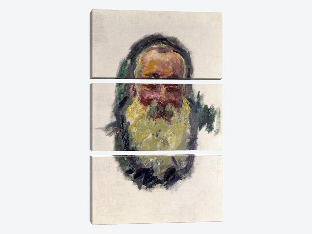 Self Portrait, 1917  by Claude Monet 3-piece Canvas Print