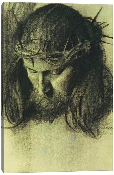 Head of Christ, c.1890  Canvas Art Print
