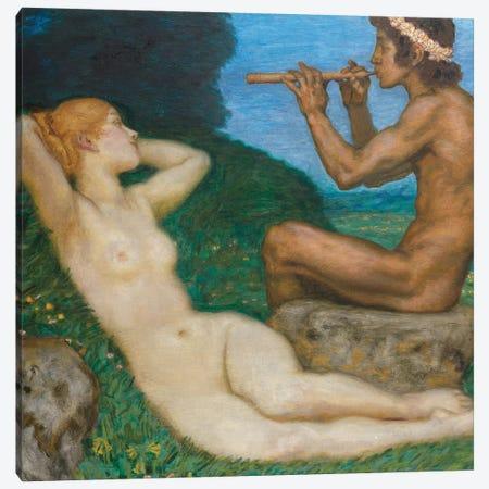 Spring Love; LiebesfrŸhling, 1917  Canvas Print #BMN10279} by Franz Von Stuck Canvas Artwork