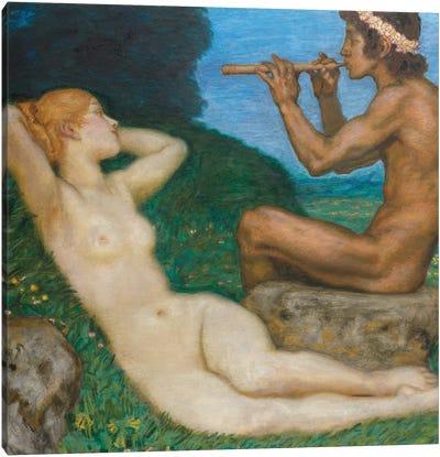 Spring Love; LiebesfrŸhling, 1917  Canvas Art Print