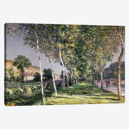 The Walk, 1890  3-Piece Canvas #BMN1027} by Alfred Sisley Art Print