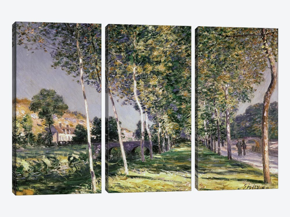 The Walk, 1890  by Alfred Sisley 3-piece Canvas Art