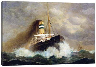 Potsdam passenger ship by Fred Pansing , oil on canvas, 20th century Canvas Art Print