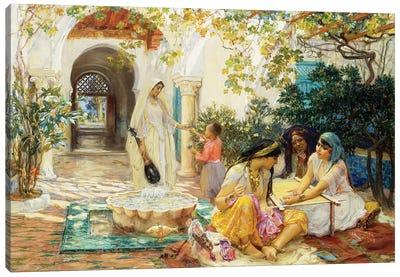 In a Village at El Biar, Algiers,  Canvas Art Print