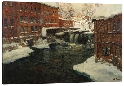 Mill Scene, c.1885-90  Canvas Art Print