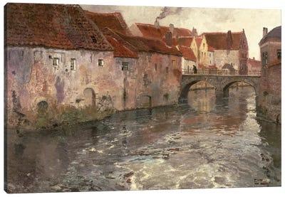 The Bridge at Antwerp , 1902 Canvas Art Print