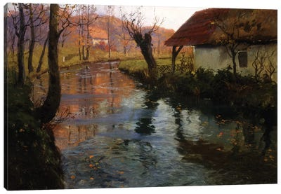 The Mill Stream  Canvas Art Print