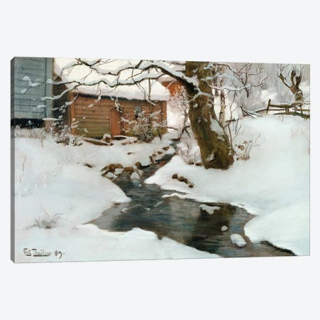 Winter on the Isle of Stord, 1889 Canvas Print #BMN10319} by Fritz Thaulow Art Print