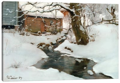 Winter on the Isle of Stord, 1889 Canvas Art Print