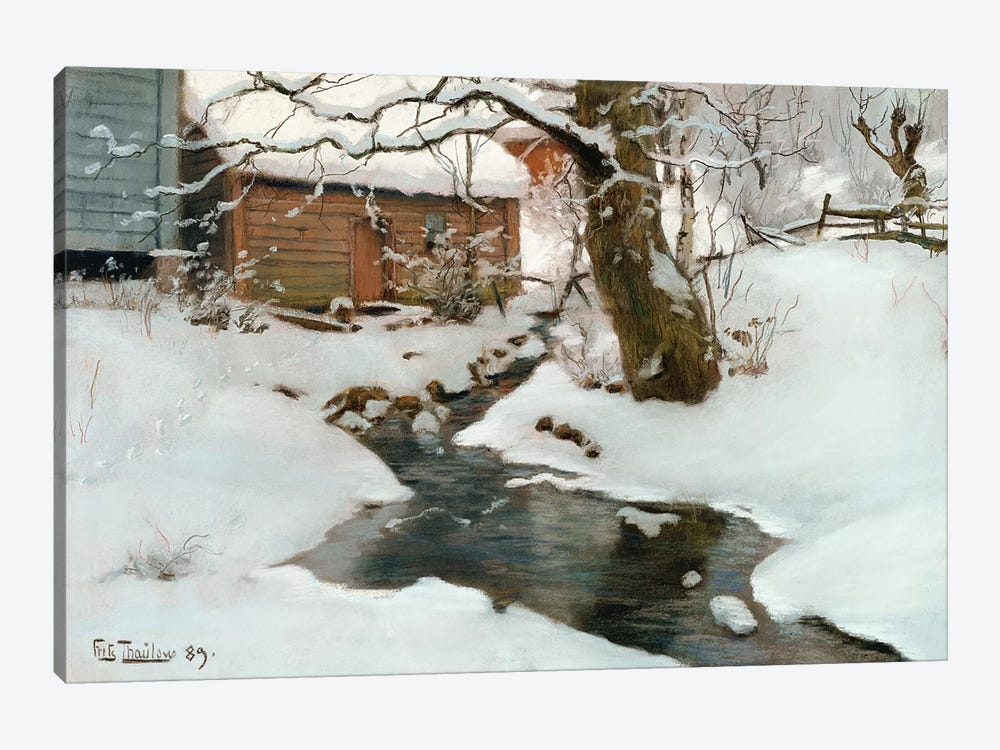 Winter on the Isle of Stord, 1889 by Fritz Thaulow 1-piece Canvas Artwork
