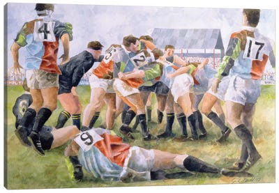 Rugby Match: Harlequins v Wasps, 1992  Canvas Art Print