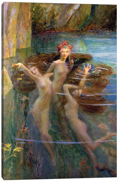 Water Nymphs, 1927  Canvas Art Print