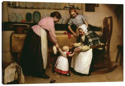 First Steps, 1888  Canvas Art Print