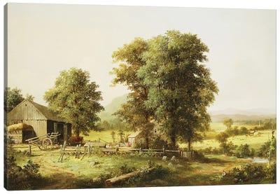 Summer Farm Scene, 1862  Canvas Art Print
