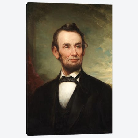 Abraham Lincoln  Canvas Print #BMN10332} by George Henry Story Canvas Art Print