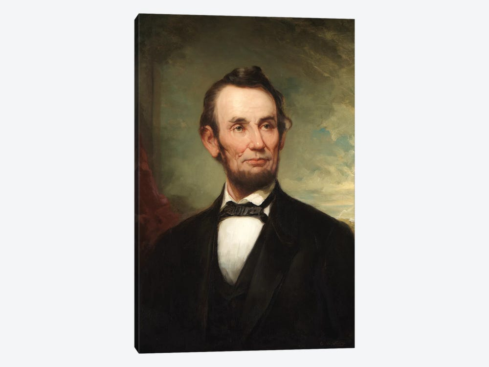 Abraham Lincoln  by George Henry Story 1-piece Canvas Print