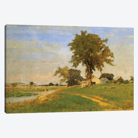 Old Elm at Medfield, 1860  Canvas Print #BMN10334} by George Inness Sr. Canvas Art