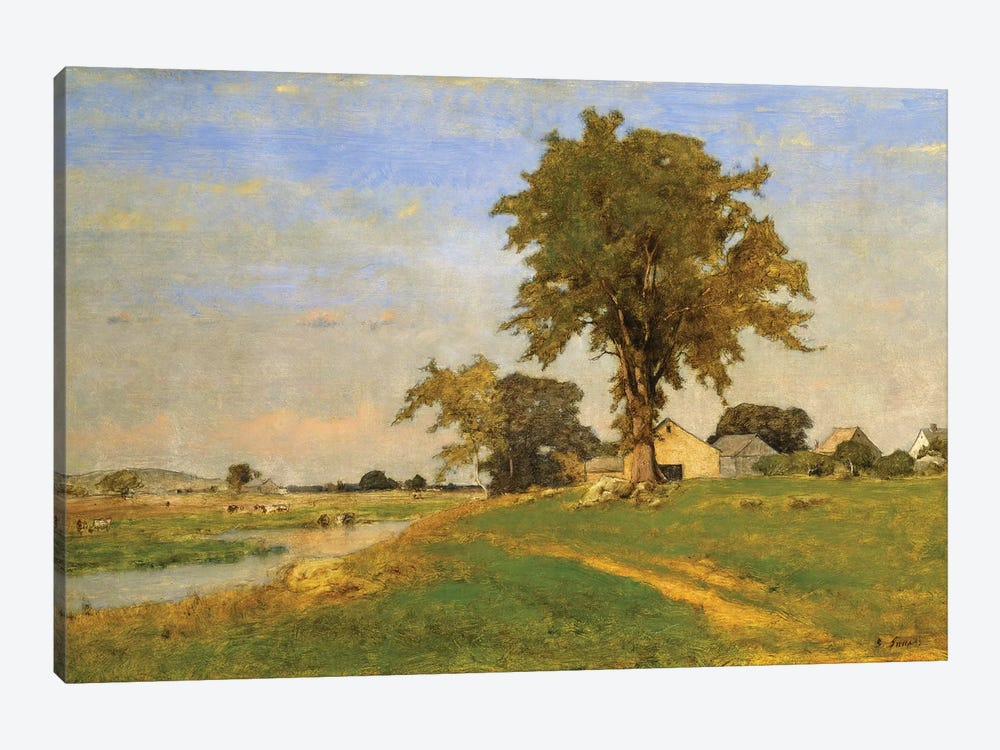 Old Elm at Medfield, 1860  by George Inness Sr. 1-piece Canvas Art Print