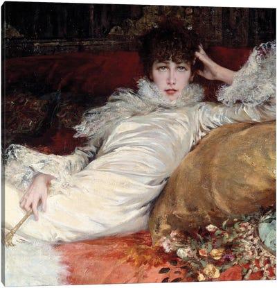 Sarah Bernhardt: portrait of comedian Sarah-Henriette Bernard called Sarah Bernhardt  Canvas Art Print