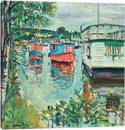 House Boats, Loch Lomond  Canvas Art Print