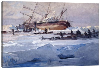 The Endurance Crushed in the Ice of the Weddell Sea, October 1915,  Canvas Art Print