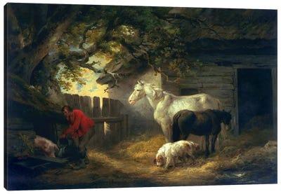 A farmyard, 1792  Canvas Art Print