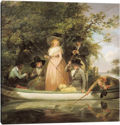 A Party Angling  Canvas Art Print