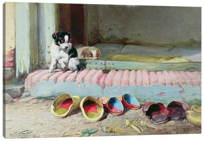 Friend or Foe, 1891 Canvas Art Print