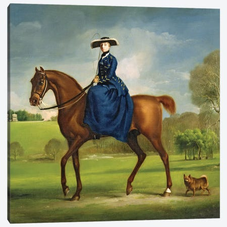 The Countess of Coningsby in the Costume of the Charlton Hunt, c.1760  Canvas Print #BMN10352} by George Stubbs Canvas Art Print