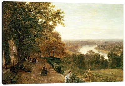 Richmond Hill, London, 1875  Canvas Art Print