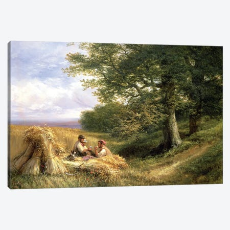 The Harvesters, 1881 Canvas Print #BMN10358} by George Vicat Cole Canvas Print