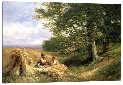 The Harvesters, 1881 Canvas Art Print