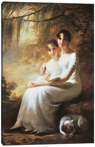Reay Sisters, by George Watson  Canvas Art Print