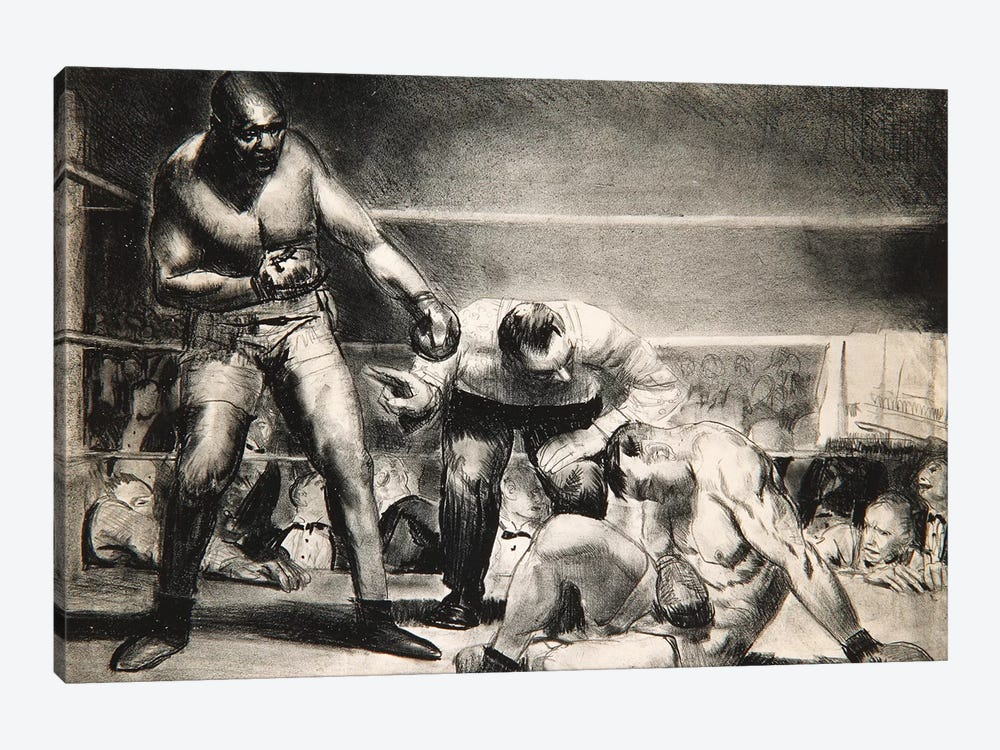 The White Hope, 1921  by George Wesley Bellows 1-piece Canvas Artwork