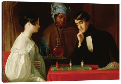 The Chess Players, c.1836  Canvas Art Print