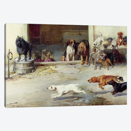 Hot Pursuit, 1894 Canvas Print #BMN1036} by William Henry Hamilton Trood Canvas Wall Art