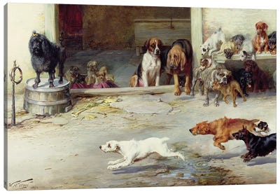 Hot Pursuit, 1894 Canvas Art Print