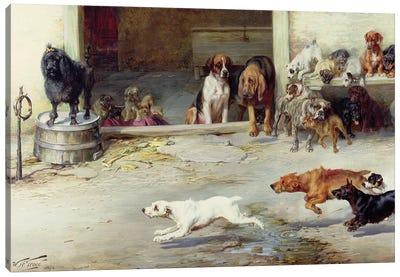 Hot Pursuit, 1894 Canvas Art Print