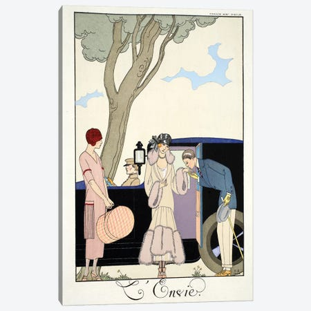 Envy, from 'Falbalas & Fanfreluches, Almanach des Modes Présentes, Passées et Futures', 1925  Canvas Print #BMN10377} by George Barbier Canvas Artwork