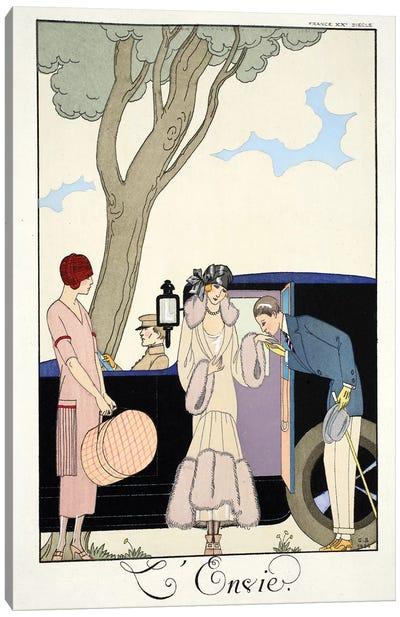 Envy, from 'Falbalas & Fanfreluches, Almanach des Modes Présentes, Passées et Futures', 1925  Canvas Art Print