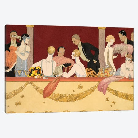 Eventails, engraved by H. Reidel, 1924  Canvas Print #BMN10378} by George Barbier Canvas Art Print