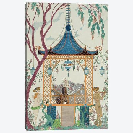 Illustration for 'Fetes Galantes' by Paul Verlaine  published 1928  Canvas Print #BMN10382} by George Barbier Canvas Art