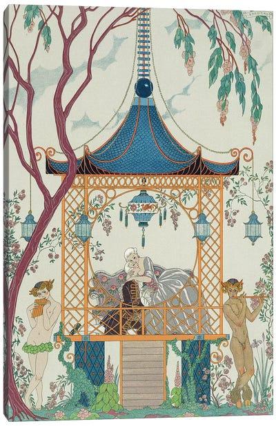 Illustration for 'Fetes Galantes' by Paul Verlaine  published 1928  Canvas Art Print