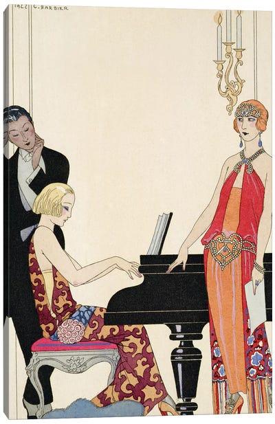 Incantation, illustration for 'Gazette du Bon Ton', 1922  Canvas Art Print
