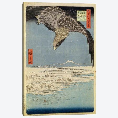 Fukagawa Susaki Jumantsubo (Fukagawa Susaki and Jumantsubo) Canvas Print #BMN1038} by Utagawa Hiroshige Canvas Print