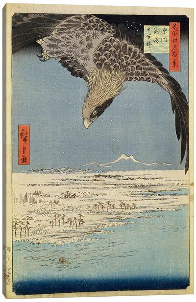 Fukagawa Susaki Jumantsubo (Fukagawa Susaki and Jumantsubo) Canvas Art Print