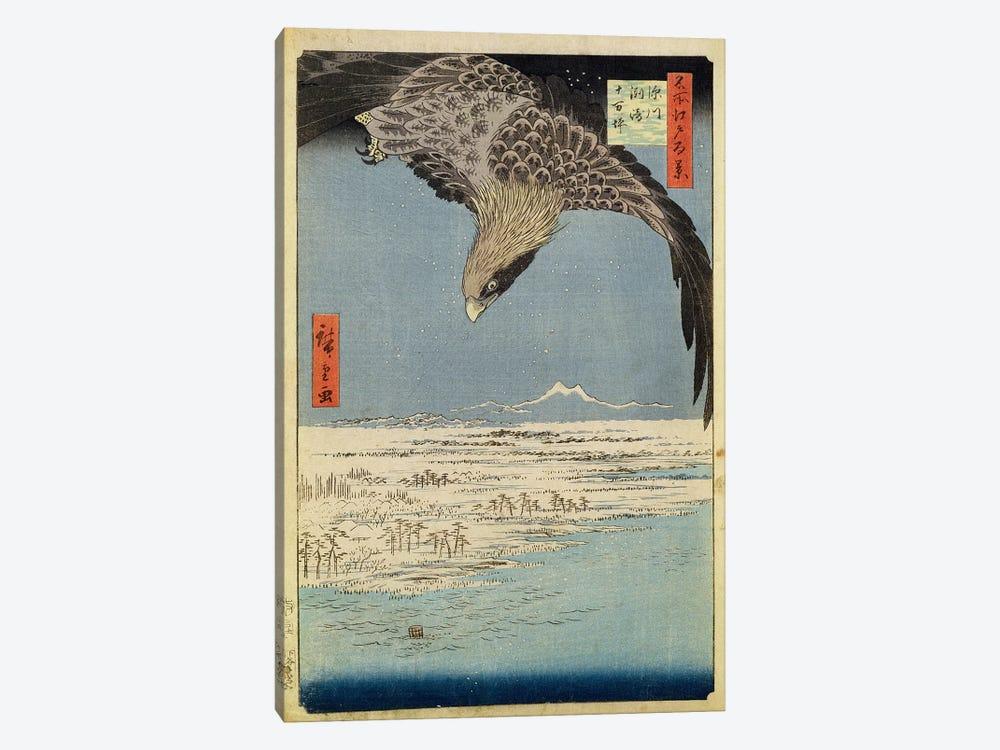 Fukagawa Susaki Jumantsubo (Fukagawa Susaki and Jumantsubo) by Utagawa Hiroshige 1-piece Canvas Artwork